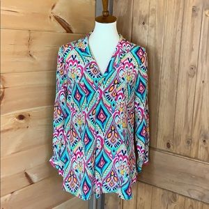 Lilly Pulitzer Boston Top 100% silk Size large